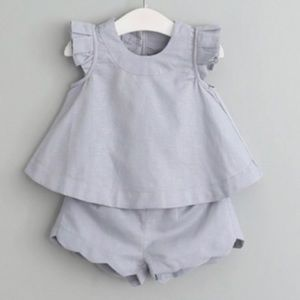 Other - NWT Girls Grey Boutique Spring Top Bottom Outfit